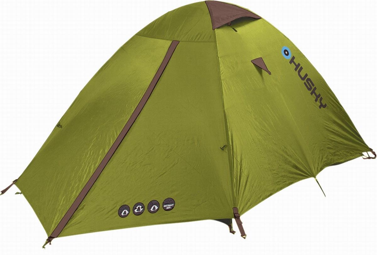 Палатка Husky Bizam 2Является одной из основных палаток серии Husky Outdoor и идеально подходит для двух человек. Палатка удобна в использовании, благодаря, небольшому весу и размеру. Предназначена для пешего туризма, кемпинга или велотуризма. Имеет ультрафиолетовую защиту.<br><br>Палатка Bizam является двухслойной палаткой внутренней конструкции с дюравраповимы дугами диаметром 7,9 мм. Внешний тент изготовлен из 185T полиэстера. Водяное сопротивление тента 3000 мм / cм2. Проклеены швы. Внутренняя палатка с паропроницаемого нейлона 190T и противомоскитной сетки для обеспечения циркуляции воздуха. Дно палатки изготовлено из 190T полиэстера с водяным сопротивлением 6000 мм / cм2. Колья для крепления из стали.<br><br>Вес кг: 2.90000000
