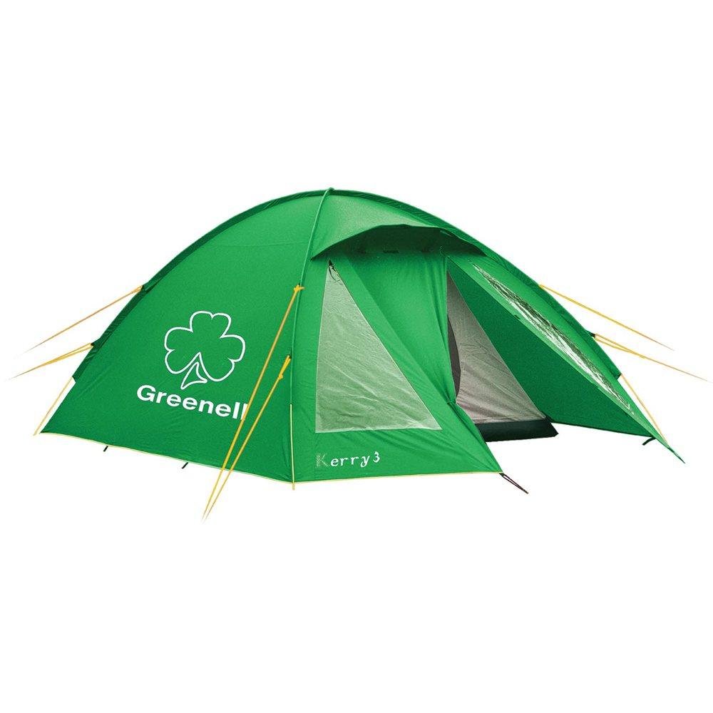 Палатка Greenell Керри 2 v.3 кемпинговаяКачественная туристическая палатка Greenell Керри 2 V3 расчитаная на двоих человек. Увеличенный тамбур с прозрачными окнами позволит хранить рюкзаки. Противомоскитная сетка защитит от комаров и мошек в жаркую погоду. Возможна отдельная установка тента. Новая верхняя ткань со специальной пропиткой защищет от ультрафиолета до 90% (UPF 50+) и препятствуюет распространению огня. Для установки используются фиберглассовые дуги. Все швы проклеены, и благодаря этому палатка еще надежнее и прочнее. Наличие внешних дуг позволит сохранить внутреннюю палатку сухой, при установке во время дождя.<br><br>Вес кг: 4.40000000