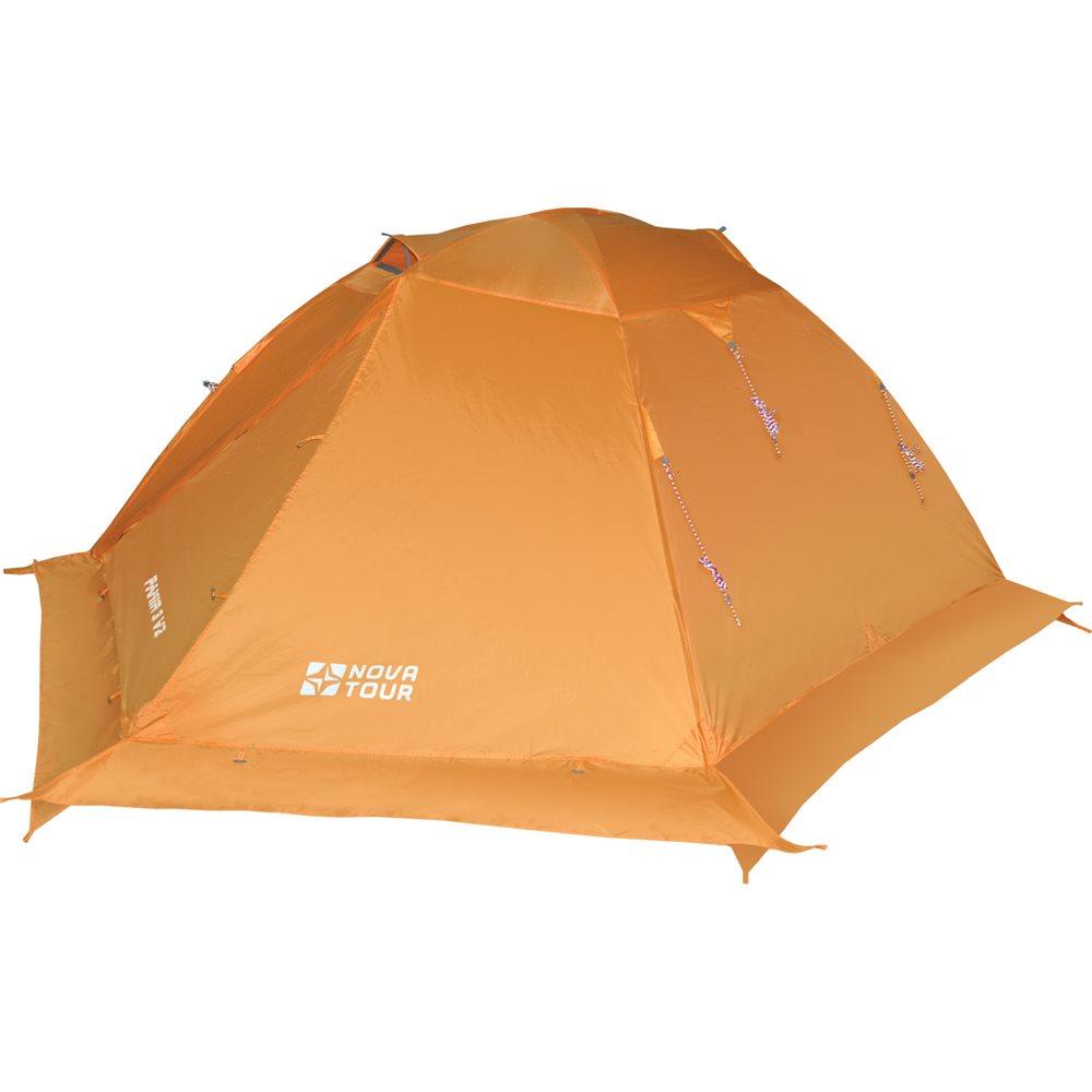 Палатка Nova Tour Памир 3 v.2Классическая туристическая трехместная палатка с повышенной ветроустойчивостью. Дополнительные оттяжки со светоотражающими нитями, усиленный каркас, ветрозащитная юбка. Два тамбура с независимыми входами, добавляют комфорта, а антимоскитные сетки и эффективная система сквозной вентиляции жилой зоны, ослабляют возникновение конденсата. Яркий цвет делает палатку более заметной в условиях плохой видимости. Все технологические решения проверены годами успешной эксплуатации.<br><br>Вес кг: 3.55000000