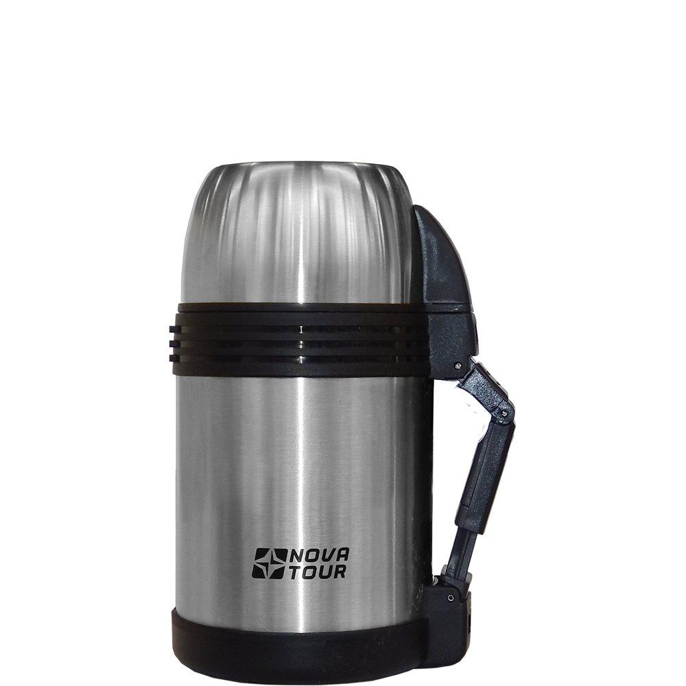 Термос Nova Tour Биг Бен 1000Универсальный термос для хранения продуктов и напитков. Пластиковая ручка, съемный регулируемый ремешок, пробка с поворотным клапаном, дополнительная пластиковая миска, которую можно использовать для первых и вторых блюд. Температурный режим: через 6 часов 80оС, через 12 часов 70оС, при начальной 95оС. (для жидкостей) 6 часов 60оС, через 12 часов 40оС, при начальной 95оС (для еды).<br><br>Вес кг: 0.80000000