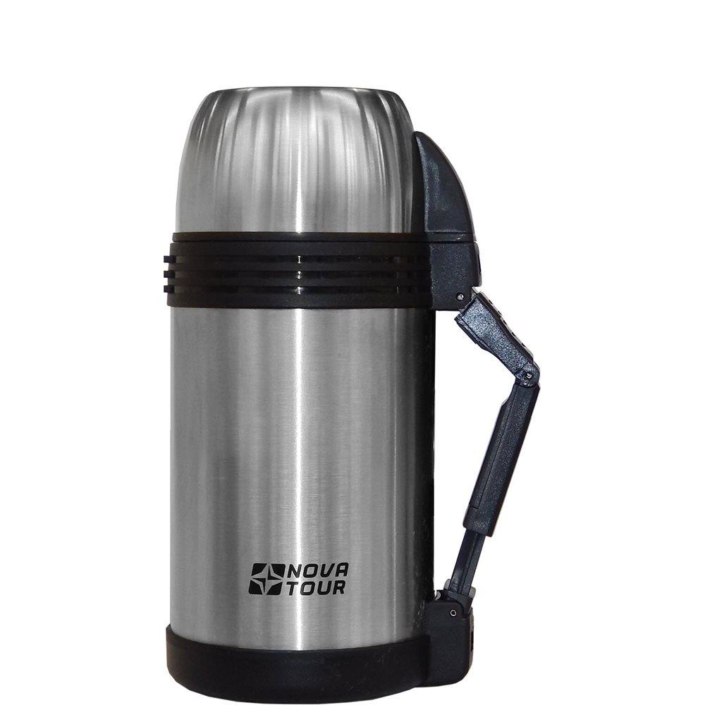 Термос Nova Tour Биг Бен 1200Универсальный термос для хранения продуктов и напитков. Пластиковая ручка, съемный регулируемый ремешок, пробка с поворотным клапаном, дополнительная пластиковая миска, которую можно использовать для первых и вторых блюд. Температурный режим: через 6 часов 80оС, через 12 часов 70оС, при начальной 95оС. (для жидкостей) 6 часов 60оС, через 12 часов 40оС, при начальной 95оС (для еды).<br><br>Вес кг: 0.90000000
