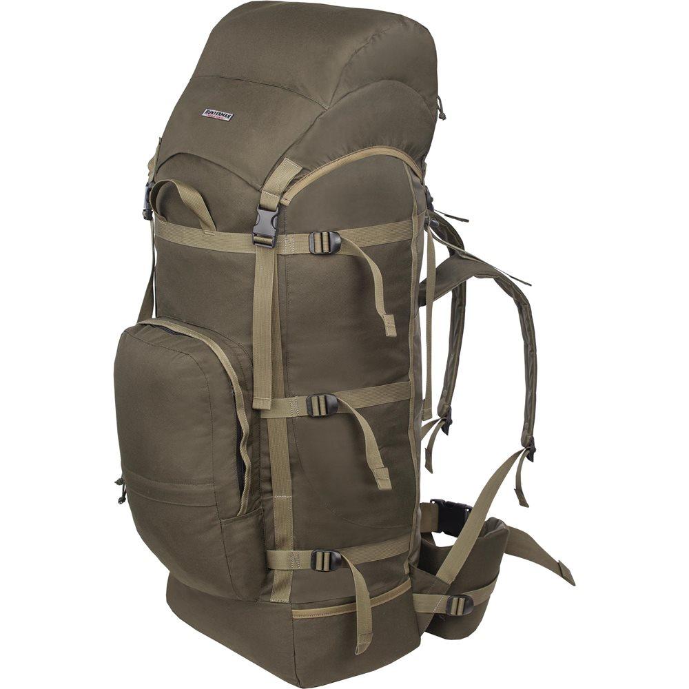 Рюкзак Nova Tour Медведь 100 V3 хакиРегулировка подвесной системы рюкзаков этой модели максимально проста и не требует времени на подгонку. Широкий поясной ремень отлично фиксируется на бедрах, принимая на себя до 80 процентов веса. Удобный карман на фронтальной части и боковые кармашки для длинномерных предметов.<br>