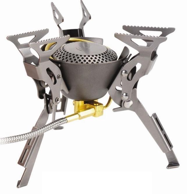 Горелка газовая Fire-Maple FMS-100T King Kong со шлангом титановаяГорелка FMS-100T KING KONG - обладатель награды за лучший дизайн на выставке Asia Outdoor 2010.<br><br>Модель портативной газовой горелки FMS-100T KING KONG - производится с 2010 года.<br><br>Особенность которой является производство с использованием титана, одного из самых легких металлов на ряду с высокой прочностью. Титановый сплав сильно облегчает эксплуатацию и транспортировку складной газовой горелки King Kong – конструкция которой, уже успешно зарекомендовала себя на примере своего старшего брата Fire-Maple FMS-100.<br><br>Благодаря титановой конструкции - общий вес горелки KING KONG не превышает 199 г. Дизайн горелки универсален и позволяет использовать ее в различных условиях. У горелки три парных опорных ножек, обеспечивающих высокую устойчивость на различных поверхностях. устойчивость. Отдельное внимание заслуживает дизайн горелки в стиле Трансформеры, а особая матовая поверхность титана задет характерный стиль. Двухступенчатая система предварительного подогрева топлива обеспечивает эффективное и стабильное пламя, что позволяет использовать горелку при минусовой температуре.<br><br>Гибкий шланг позволяет при необходимости перевернуть газовый баллон, чтобы использовать топливо полностью, а так же при необходимости удалить сменный картридж на требуемое расстояние от горелки. Газовая портативная горелка FMS-100T KING KONG снабжена ниппелем, особой системой предотвращения потери топлива при каждом подсоединении и отсоединении сменного картриджа. Что позволяет в разы снизить расход жизненно-необходимого топлива в путешествии. Эта модель отлично подходит для использования с резьбовыми сменными картриджами любых типов. Возможно подсоединение к цанговому баллону при помощи адаптера FMS-701.<br><br>Вес кг: 0.30000000