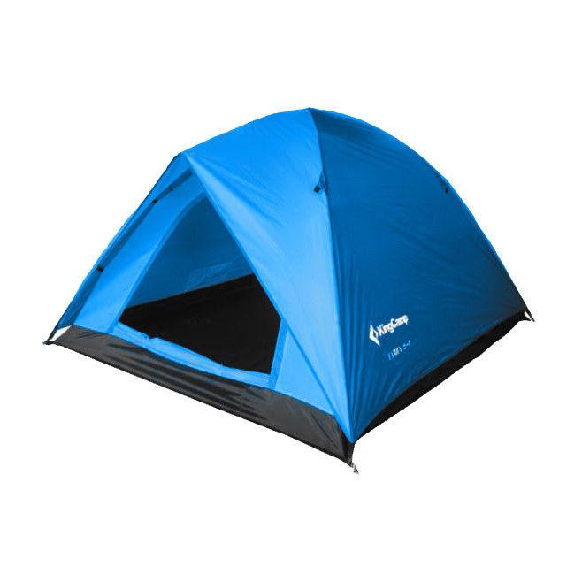 Палатка KingCamp Family 2+1трекинговая палатка, 3-местная, внутренний каркас, дуги из стеклопластика, один вход / одна комната, невысокая водостойкость, вес: 4.2 кг<br><br>Вес кг: 4.20000000