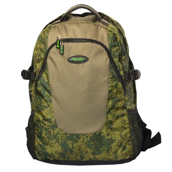"""Рюкзак Prival Форос 30 ХакиУдобный, практичный рюкзак&amp;nbsp;ФОРОС""""&amp;nbsp;(Prival) &amp;nbsp;предназначен&amp;nbsp;для повседневного использования в городской среде, для активного отдыха, краткосрочных походов.&amp;nbsp;<br><br>Рюкзак состоит из основного отделения с большим внутренним карманом на резинке. С фронтальной стороны рюкзака расположен вместительный карман-органайзер на молнии, в который можно разместить планшет, бумаги формата А4. &amp;nbsp;Внутри кармана-органайзера расположен небольшой кармашек на молнии для мелочей.&amp;nbsp;По бокам с внешней стороны расположены два сетчатых кармашка на резинках, предусмотренных для размещения небольших предметов. &amp;nbsp;<br><br>Для удобства переноски у рюкзака имеются две ручки. С помощью боковых стяжек рюкзак можно регулировать по объему, а также закрепить дополнительное оборудование. Мягкая анатомическая спинка с блоками Air Mesh, широкие мягкие лямки, грудная стяжка и поясной ремень повышают комфорт и уменьшают нагрузки на спину при длительном ношении рюкзака.<br><br>&amp;nbsp;<br><br>Характеристики:<br><br>Назначение:&amp;nbsp;&amp;nbsp;походы выходного дня, &amp;nbsp;повседневное использование<br><br>Исполнение:&amp;nbsp;мягкий<br><br>Лямок:&amp;nbsp;2 шт<br><br>Тип:&amp;nbsp;унисекс<br><br>Вес:&amp;nbsp; 550 гр<br><br>Высота:&amp;nbsp;46 см<br><br>Ширина:&amp;nbsp;36 см<br><br>Толщина:&amp;nbsp;23 см<br><br>Объём:&amp;nbsp;30 литров<br><br>Грузоподъёмность:&amp;nbsp;до 10 &amp;nbsp;кг<br><br>Ткань:&amp;nbsp;OXFORD 100% полиэстр<br><br>Ткань дна:&amp;nbsp;усиленный OXFORD&amp;nbsp;100% полиэстр<br><br>Цвета:&amp;nbsp;кмф цифра/хаки<br><br><br>&amp;nbsp;<br>"""