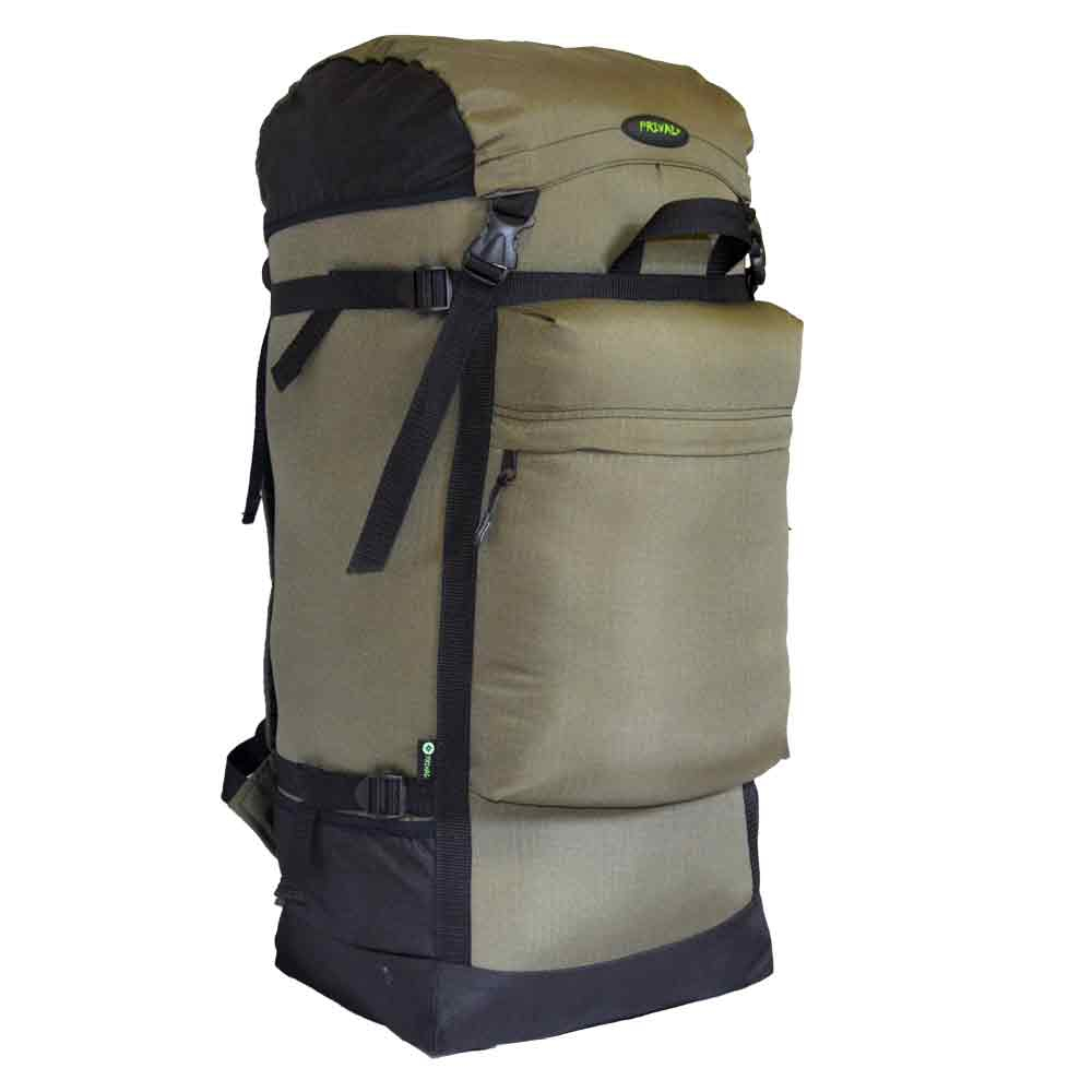 Рюкзак Prival Михалыч 110 ХакиУниверсальный, объемный&amp;nbsp;рюкзак Михалыч 110л&amp;nbsp;(Prival). Прекрасный выбор для любителей охоты, рыбалки или начинающих путешественников, которым необходим большой, вместительный рюкзак.Регулируемый клапан, две ручки для транспортировки, большой фронтальный карман и &amp;nbsp;боковые кармашки дополнят комфорт при эксплуатации. Регулировка подвесной системы максимально проста, а широкий поясной ремень фиксируется на бёдрах, распределяя до 80% нагрузки. Компрессионные стяжки по бокам позволяют регулировать объем.<br><br>Характеристики:<br><br><br>Назначение:&amp;nbsp; Для охоты и рыбалки<br><br>Исполнение:&amp;nbsp; Мягкий<br><br>Лямок:&amp;nbsp;2 шт<br><br>Грудная стяжка: нет<br><br>Поясной ремень:&amp;nbsp;есть<br><br>Клапан:&amp;nbsp;есть; съемный; без кармана<br><br>Тип:&amp;nbsp;унисекс<br><br>Объём:&amp;nbsp;110 литров<br><br>Грузоподъёмность:&amp;nbsp;до 60 кг<br><br>Ткань:&amp;nbsp;Poly Oxford 600D PU RipStop<br><br>Ткань дна:&amp;nbsp;Poly Oxford 600D PU RipStop<br><br>Цвет:&amp;nbsp;хаки<br><br><br>&amp;nbsp;<br>