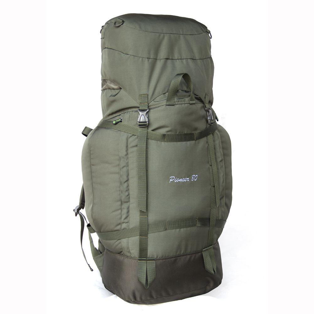 Рюкзак Prival Пионер 80 Хаки, КДНадежный, прочный рюкзак Пионер КД 80 предназначен для треккинговых походов. Рюкзак состоит из одного общего отделения. В рюкзаке предусмотрен плавающий клапан, который можно отрегулировать при максимальной загруженности рюкзака. Рюкзак имеет три вместительных внешних кармана на молнии: один в клапане и два по бокам. Подвесная система рюкзака позволяет закрепить дополнительное снаряжение и оборудование, а система боковых стяжек регулирует рюкзак по объему. Мягкая спинка, регулируемый поясной ремень и регулируемые лямки делают рюкзак очень комфортным, при этом бескаркасная спинка значительно снижает вес изделия и уменьшает объём в сложенном состоянии. Для удобства переноски в рюкзаке предусмотрены две ручки.<br><br>Вес кг: 1.00000000