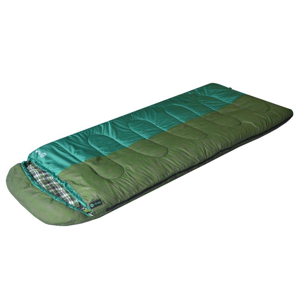 Спальный мешок Prival ПривалСпальный мешок ПРИВАЛ (Prival) – незаменимая туристическая модель для комфортного отдыха в межсезонный период. Удобное, практичное одеяло с капюшоном, изготовленное с применением высококачественного наполнителя ФАЙБЕРПЛАСТ, прекрасно сохранит тепло. Специальная застежка на капюшоне защитит лицо от проникновения холодного воздуха. Прекрасно подходит для отдыха на природе с ночёвкой в палатке летом в прохладную и тёплую погоду.<br>