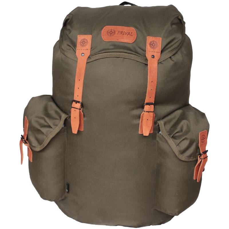 Рюкзак Prival Скаут 55 ХакиМногофункциональный рюкзак&amp;nbsp;«СКАУТ 55 Хаки»&amp;nbsp;(Prival)&amp;nbsp;предназначен для туристов, охотников, рыболовов. Удобная, мягкая, формованная спинка делает его ношение комфортным. Рюкзак имеет одно большое вместительное отделение с&amp;nbsp; двумя стяжками, два наружных вместительных кармана, &amp;nbsp;внутренний карман для мелочей в верхнем клапане. Все ремешки на рюкзаке выполнены из натуральной кожи.<br><br>&amp;nbsp;<br><br>Характеристики<br><br>Назначение:&amp;nbsp;Для охоты и рыбалки&amp;nbsp;<br><br>Исполнение:&amp;nbsp;Анатомический<br><br>Лямок:&amp;nbsp;2 шт<br><br>Тип:&amp;nbsp;унисекс<br><br>Вес:&amp;nbsp;650 гр&amp;nbsp;<br><br>Объём:&amp;nbsp;55 литров<br><br>Грузоподъёмность:&amp;nbsp;до 30 кг<br><br>Ткань:&amp;nbsp;Oxford 600D&amp;nbsp;<br><br>Ткань дна:&amp;nbsp;Кордура&amp;nbsp;<br><br>Цвет:&amp;nbsp;хаки<br>