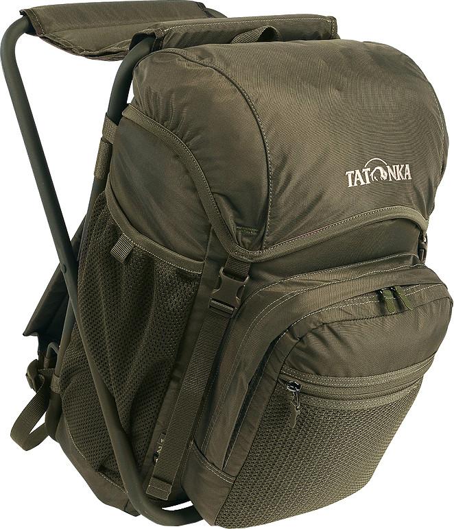 Рюкзак-стул Tatonka Fischerstuhl oliveунисекс для охоты и рыбалки, мягкий каркас, объем 20 л, встроенный складной стул<br><br>Вес кг: 1.20000000