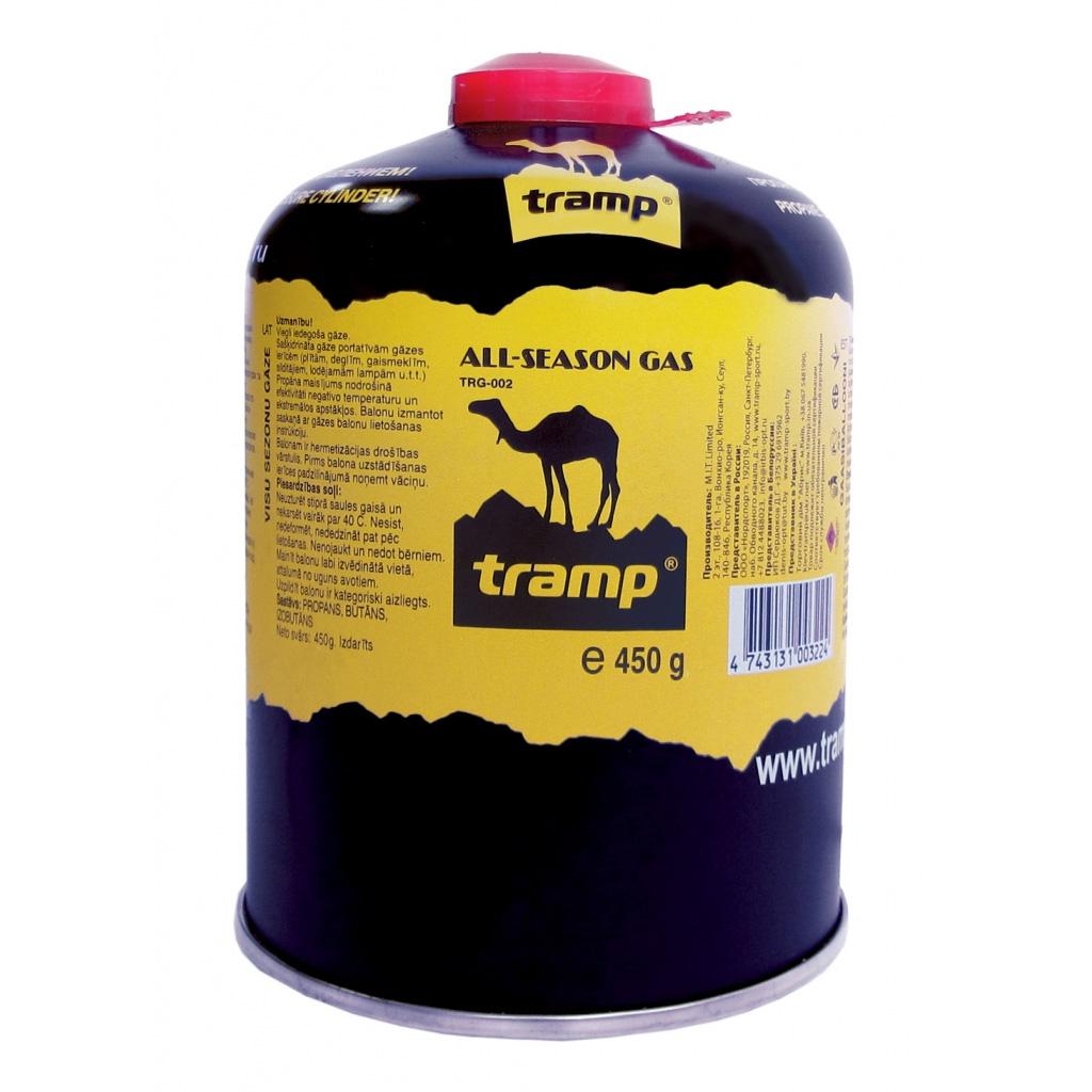 Газовый картридж Tramp TRG-002, резьба 450грБаллон резьбовой. Снабжен самоуплотнением, предохранительными клапанами и винтовой резьбой, соответствующей международным стандартам<br><br>Вес кг: 0.50000000