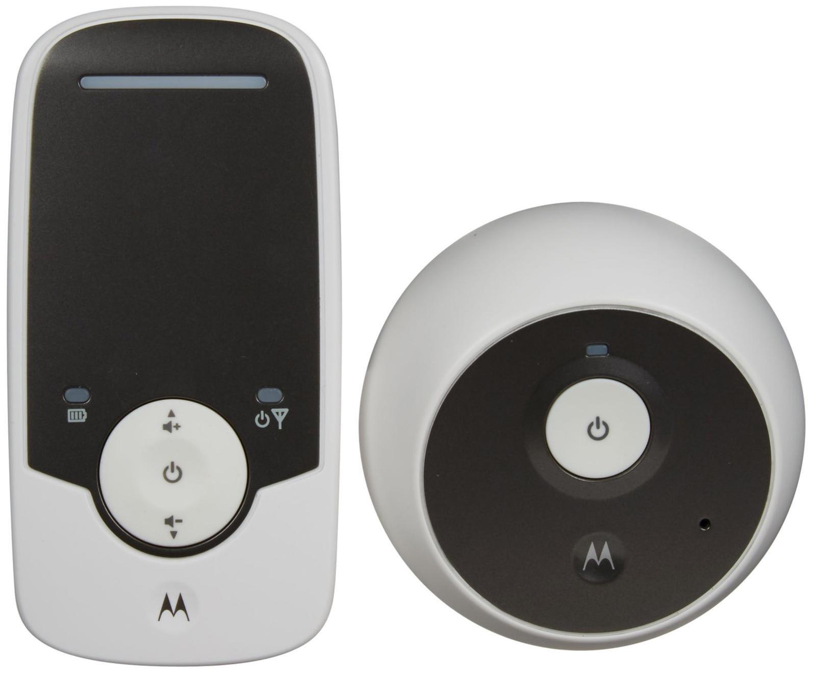 Радионяня Motorola MBP160Радионяня Motorola MBP 160 даст вам возможность спокойно заниматься домашними делами тогда, когда ребенок уже спит. Большая зона приема с предупреждением о выходе из зоны покрытия позволяет присматривать за ребенком на расстоянии. Главная особенность этой модели — это цифровая технология передачи сигнала на базе технологии DECT с подбором свободной частоты во избежание помех. В MBP 160 используется 100% приватный и защищенный сигнал между родителями и их малышом. Благодаря функции VOX Motorola MBP 160 реагирует лишь на звуки ребенка и игнорирует посторонние шумы.<br>