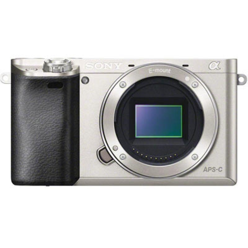 Фотоаппарат Sony Alpha A6000 Body (серебро) со сменной оптикойфотокамера с поддержкой сменных объективов, байонет Sony E, без объектива в комплекте, матрица 24.7 МП (APS-C), съемка видео Full HD, поворотный экран 3, Wi-Fi<br><br>Вес кг: 0.30000000