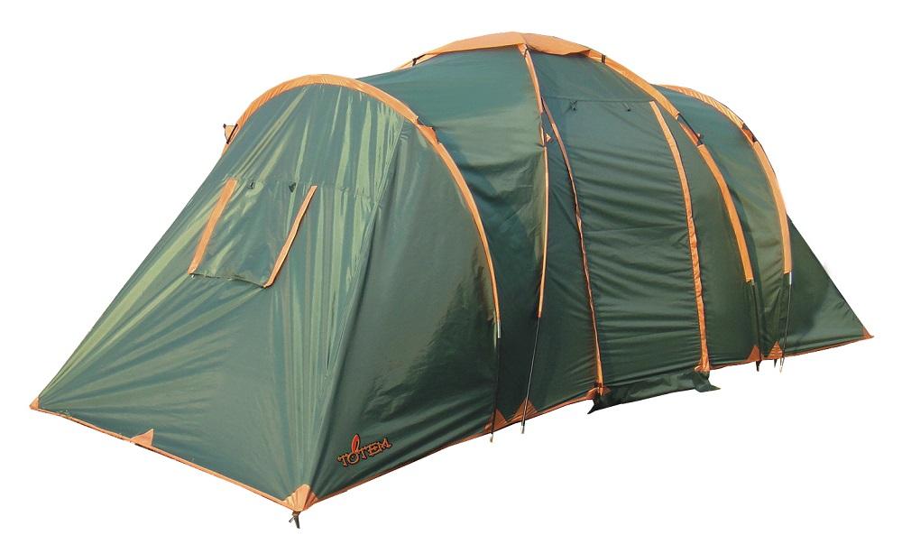 Палатка Totem Hurone кемпинговаяДвухслойная кемпинговая палатка с двумя входами и большим тамбуром<br><br>Входы всех спальных отделений продублированы москитной сеткой<br><br>Два спальных отделения<br><br>Два больших вентиляционных окна<br><br>Все швы проклеены<br><br>Вес кг: 8.70000000