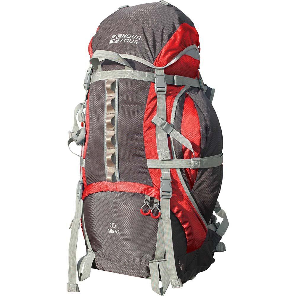 Рюкзак Nova Tour Альфа 85 v2 красный/серыйНадежный спутник в походах и путешествиях. Прочность конструкции проверена временем. Продуманная модель со складными карманами по бокам и плавающим клапаном, позволяющим изменять объем рюкзака, имеет все необходимое для навески дополнительного снаряжения. Гермочехол упакован в специальном кармане на дне рюкзака.<br><br>Вес кг: 2.50000000