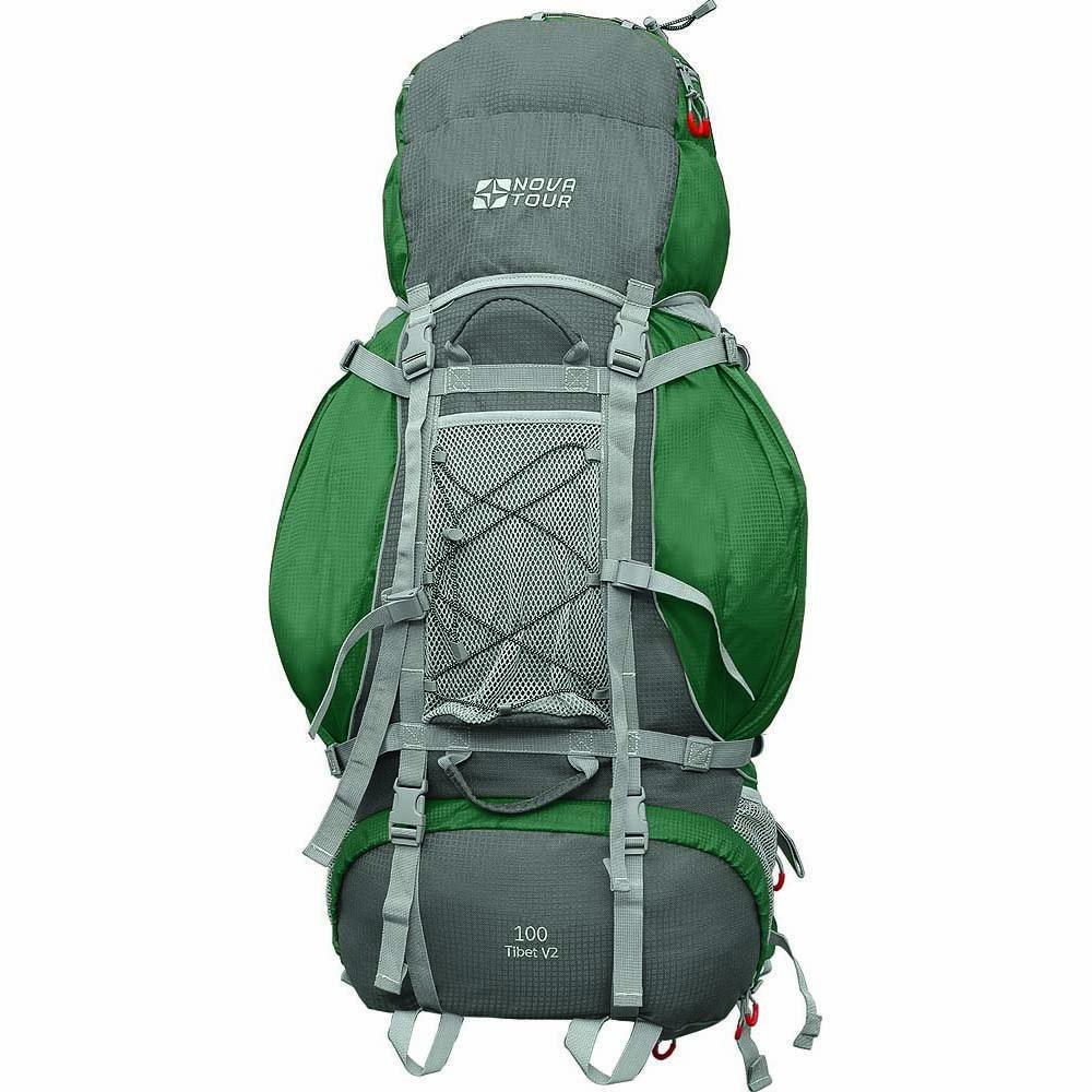 Рюкзак Nova Tour Тибет 100 v2 зеленый/серыйПрочный рюкзак большого объема для классического туризма. Вы можете не ограничивать себя в количестве вещей, ведь этот рюкзак с двумя вместительными карманами на молнии, сетчатыми карманами для фляги и мелочей по обеим бокам рюкзака, а также объемным клапаном. Ваша спина не устанет во время длительных переходов с удобной подвесной системой, разработанной специально для переноски тяжелых грузов. Дождевик, теплый свитер или сменная обувь будут всегда под рукой с сетчатым карманом спереди и эластичной шнуровкой на клапане рюкзака. Удобство при погрузке рюкзака в транспорт обеспечивают три усиленных ручки. Если в пути застанет дождь или снег не беда! В специальном кармане на дне рюкзака упакован непромокаемый гермочехол. На концах боковых стяжек имеются липучки для закрепления излишков стропы.<br><br>Вес кг: 2.10000000