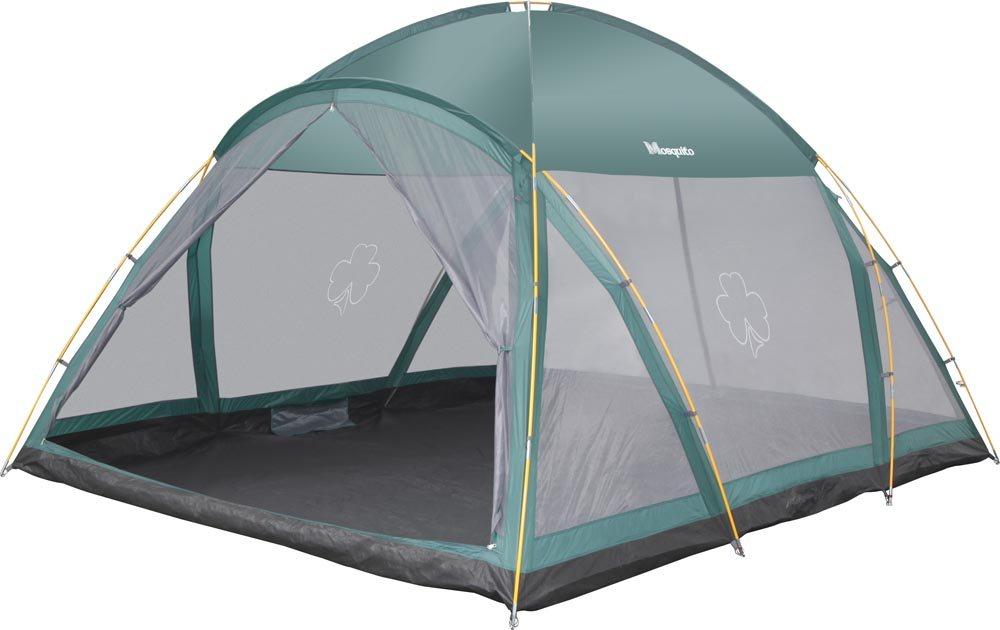 Палатка Greenell МоскитоПалатка-шатер Greenell Москито обеспечит надежное укрытие от солнца и насекомых на загородном отдыхе, кемпинге. Модель имеет два входа с разных сторон. В палатке также предусмотрено дно, все швы проклеиваются, чтобы изделие было более прочным. Стенки палатки почти полностью состоят из противомоскитной сетки – за счет такой конструкции внутрь свободно проникает свет и воздух. Верхняя часть купола выполнена из плотной ткани, что позволяет укрыться внутри от легкого дождя (без ветра).<br><br>Вес кг: 9.70000000