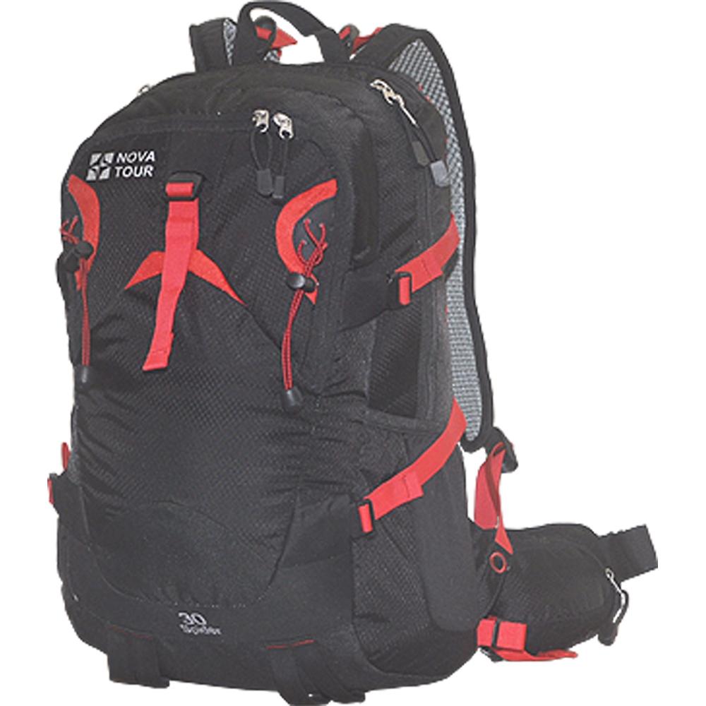 Рюкзак Nova Tour Блэк Спайдер 30 черныйСтильный рюкзак для занятий спортом и активного отдыха. Для комфорта при повседневневном ношении, предусмотрена новая удобная система подушек с регулируемыми лямками и съемной вставкой для жесткости спинки. Приятным дополнением к основному отделению служит органайзер, карабин для ключей и отделение для гидратора. Всем необходимым мелочам найдется место в кармане на фасадной части, в двух боковых эластичных карманах, карманах на лямке и поясе рюкзака<br><br>Вес кг: 1.06000000
