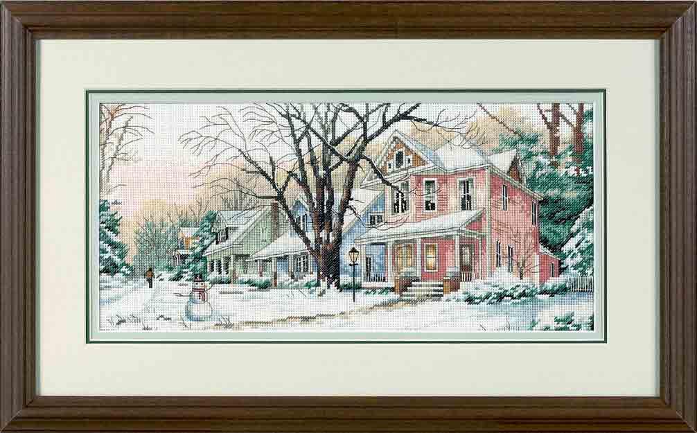 Sunset Winter On Main Street (Зима на главной улице).13713 СШАНабор для вышивания Sunset 13713 Winter On Main Street (Зима на главной улице)<br>