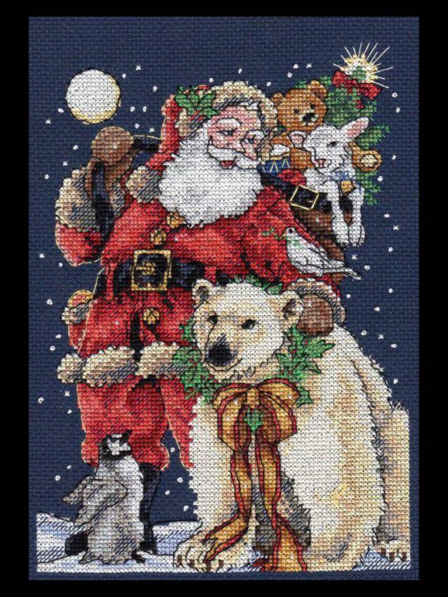 Dimensions Beloved Santa (Любимы Санта петит).8676 СШАНабор для вышивания Dimensions 8676 Beloved Santa (Любимый Санта петит)<br>