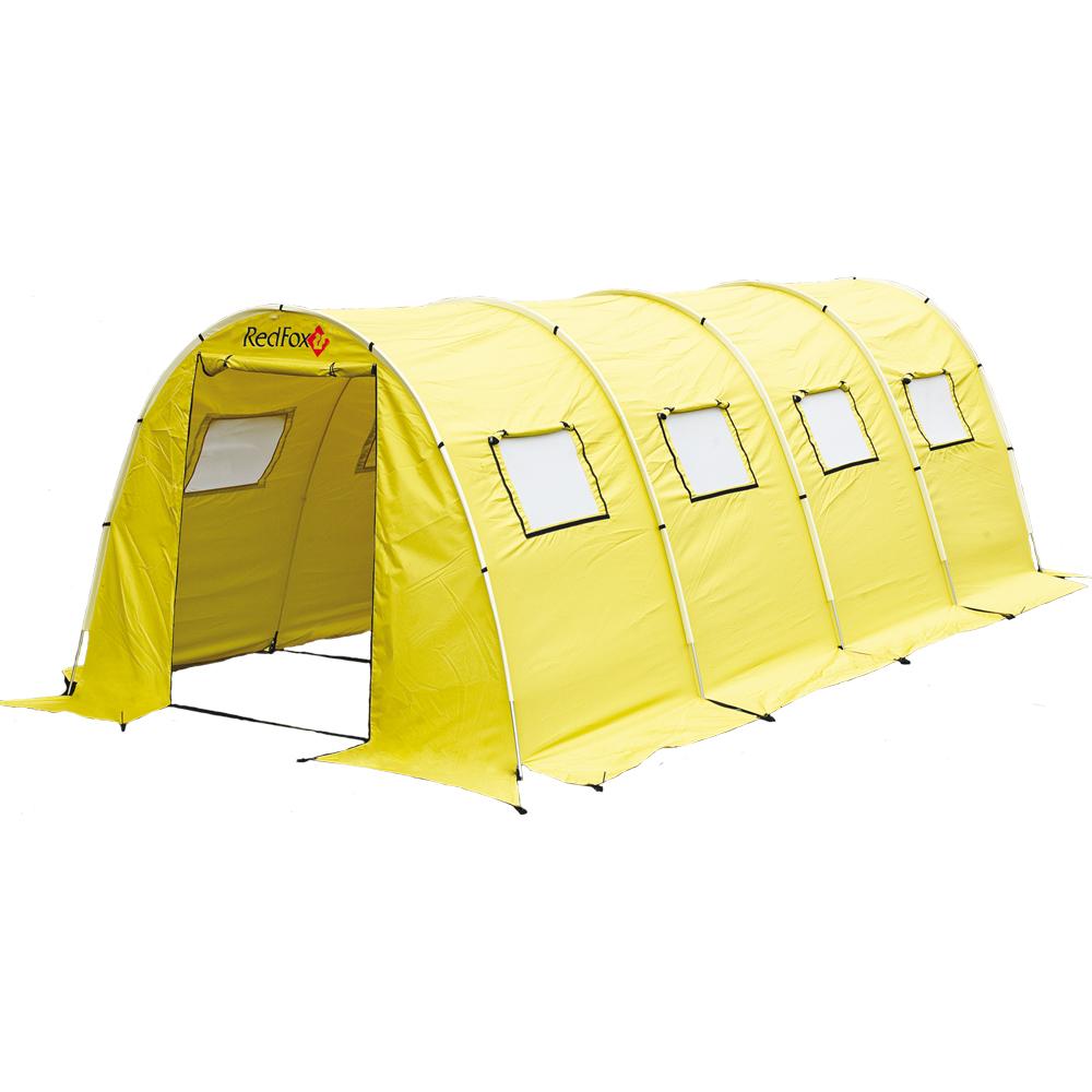 Палатка RedFox Team FoxБольшая палатка для обустройства базовых лагерей. Идеальна для использования в качестве столовой, радиорубки или штаба. Увеличенный полезный объем палатки за счет вертикальных стенок. Стойки DAC. Карманы на тенте для стоек. Высококачественный алюминиевый каркас повышенной прочности. Проклеенные швы тента и дна. 28 штормовых оттяжек. 2 входа на молниях. Высота палатки позволяет встать в полный рост. Регулируемые вентиляционные клапаны на тенте. 8 вентиляционных окон, закрытых сеткой. Регулируемая ветрозащитная юбка. Форма дна позволяет расположиться как вдоль, так и поперек палатки. Увеличенный полезный объем палатки за счет вертикальных стенок. Для установки палатки достаточно 14 колышков. Упаковывается в специальный компрессионный мешок. Съемный пол Ground Sheet (6*4 м) по периметру палатки<br><br>Вес кг: 17.10000000
