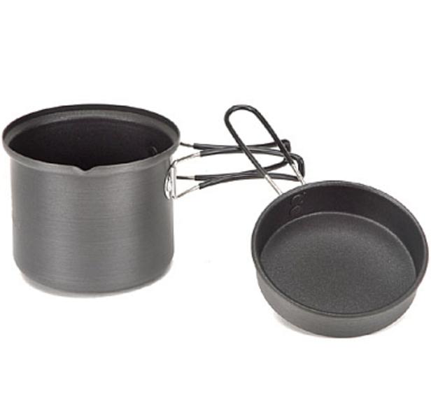 Набор посуды алюминиевый  Fire-Maple FMC-K5 на 1 человекаНабор посуды из анодированного алюминия с антипригарным покрытием. Включает в себя кастрюльку и крышку со складными ручками. Внутрь помещается баллон и горелка.<br><br>Вес кг: 0.30000000