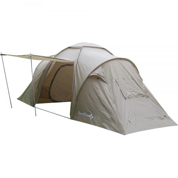 Палатка RedFox Challenger House V2Большая кемпинговая палатка для семейного отдыха. Имеет 2 отдельные комнаты и огромный тамбур. Полог можно преобразовать в небольшой навес. Ткань внутренней палатки обладает высокими дышащими свойствами. Проклеенные швы тента и дна. 8 вентиляций. Входы палатки продублированы противомоскитной сеткой. Удобные внутренние карманы для вещей первой необходимости.<br><br>Вес кг: 7.90000000
