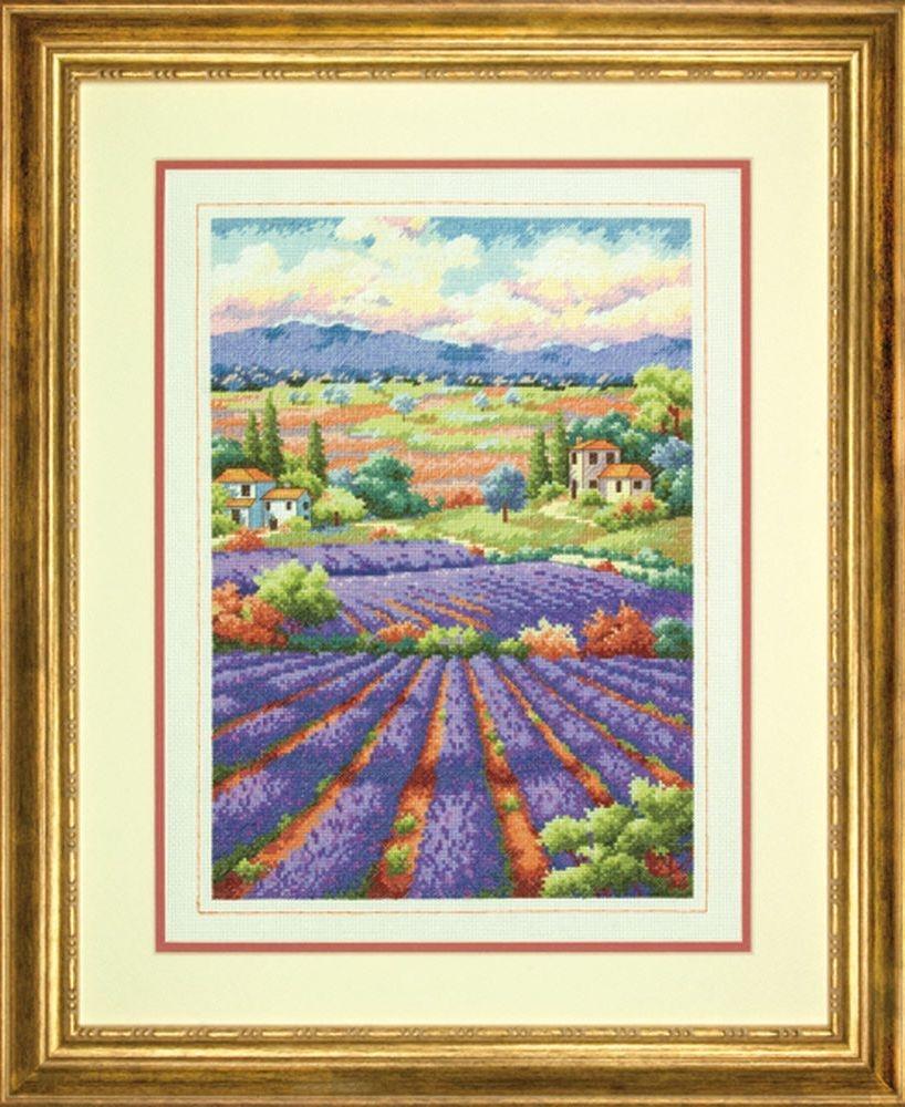 Dimensions Fields of Lavender (Поля Лаванды). Китай.35299Набор для вышивания Dimensions 35299  Fields of Lavender (Поля Лаванды)<br>