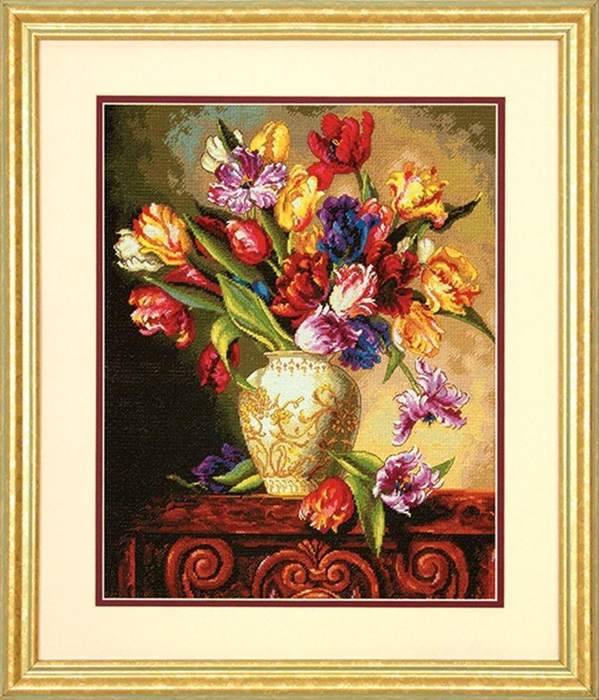 Dimensions Parrot Tulips (Попугайные тюльпаны). Китай.35305Набор для вышивания Dimensions 35305 Parrot Tulips (Попугайные тюльпаны)<br>