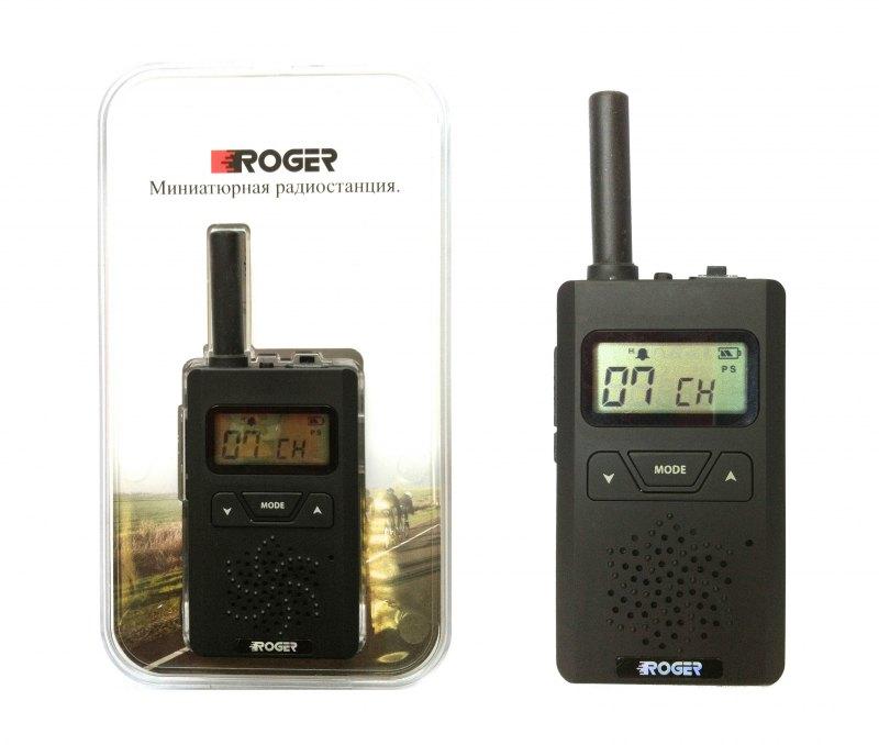 Радиостанция Roger KP-55 портативнаярация PMR, мощность передатчика 0.5 Вт, питание Li-Pol-аккумулятор, вес 60 г, количество каналов 8, кодирование CTCSS, DCS, подключение гарнитуры<br><br>Вес кг: 0.10000000