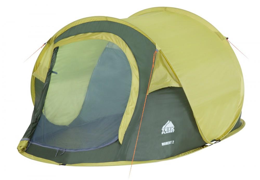 Палатка Trek Planet Moment 2 трекинговаядвухместная трекинговая палатка с хорошей вентиляцией и автоматической установкой, которая подойдет для длительных походов. Каркас из прочных и легких композитных дуг. Тент оборудован противомоскитной сеткой, оснащен водостойкой пропиткой и защищает от воды и ветра во время дождя. Для удобного хранения и транспортировки предоставляется чехол.<br><br>Вес кг: 2.20000000