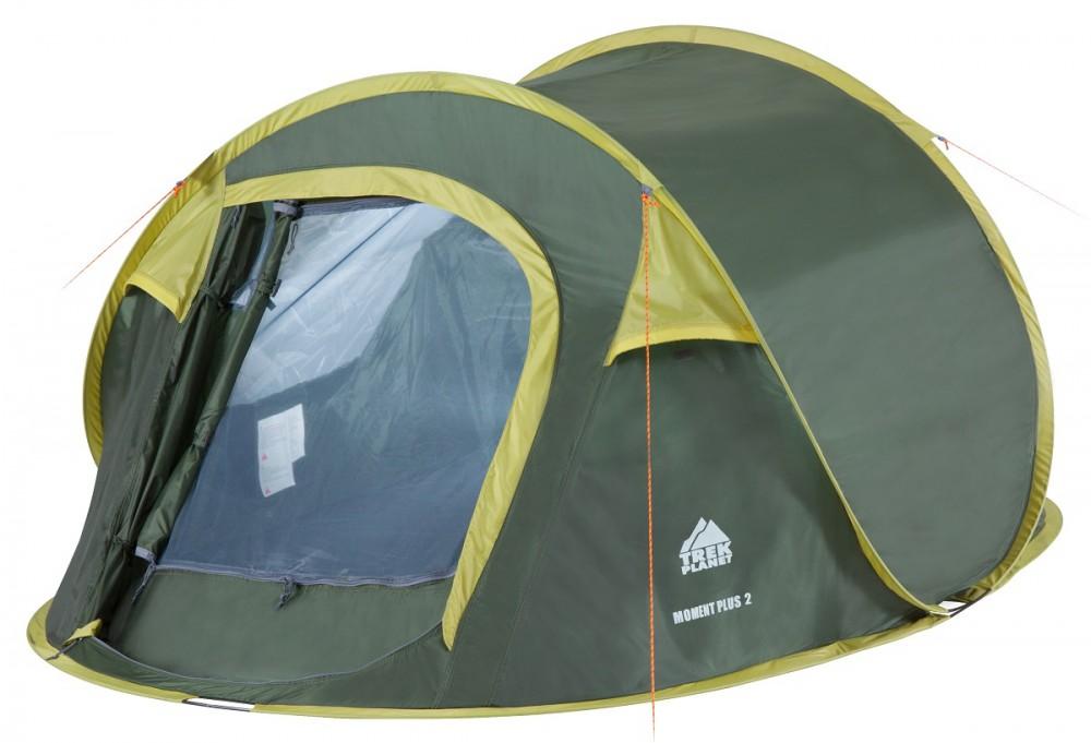 Палатка Trek Planet Moment Plus 2 трекинговаядвухместная трекинговая палатка с хорошей вентиляцией и автоматической установкой, которая подойдет для длительных походов. Каркас из прочных и легких композитных дуг. Тент оборудован противомоскитной сеткой, оснащен водостойкой пропиткой и защищает от воды и ветра во время дождя. Для удобного хранения и транспортировки предоставляется чехол.<br><br>Вес кг: 2.20000000