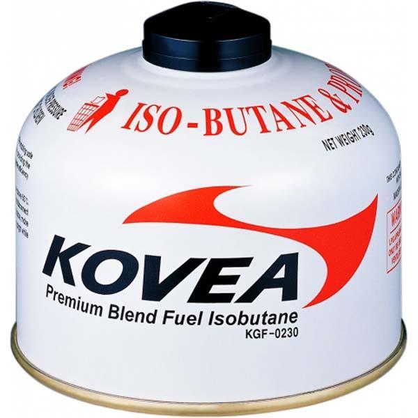 Газовый картридж Kovea 230 KFG-0230Баллон наполнен высокопроизводительной газовой изо-пропановой смесью составом: изобутан 72%\пропан 22%\бутан 6%. Температура использования до -23°<br><br>Вес кг: 0.30000000