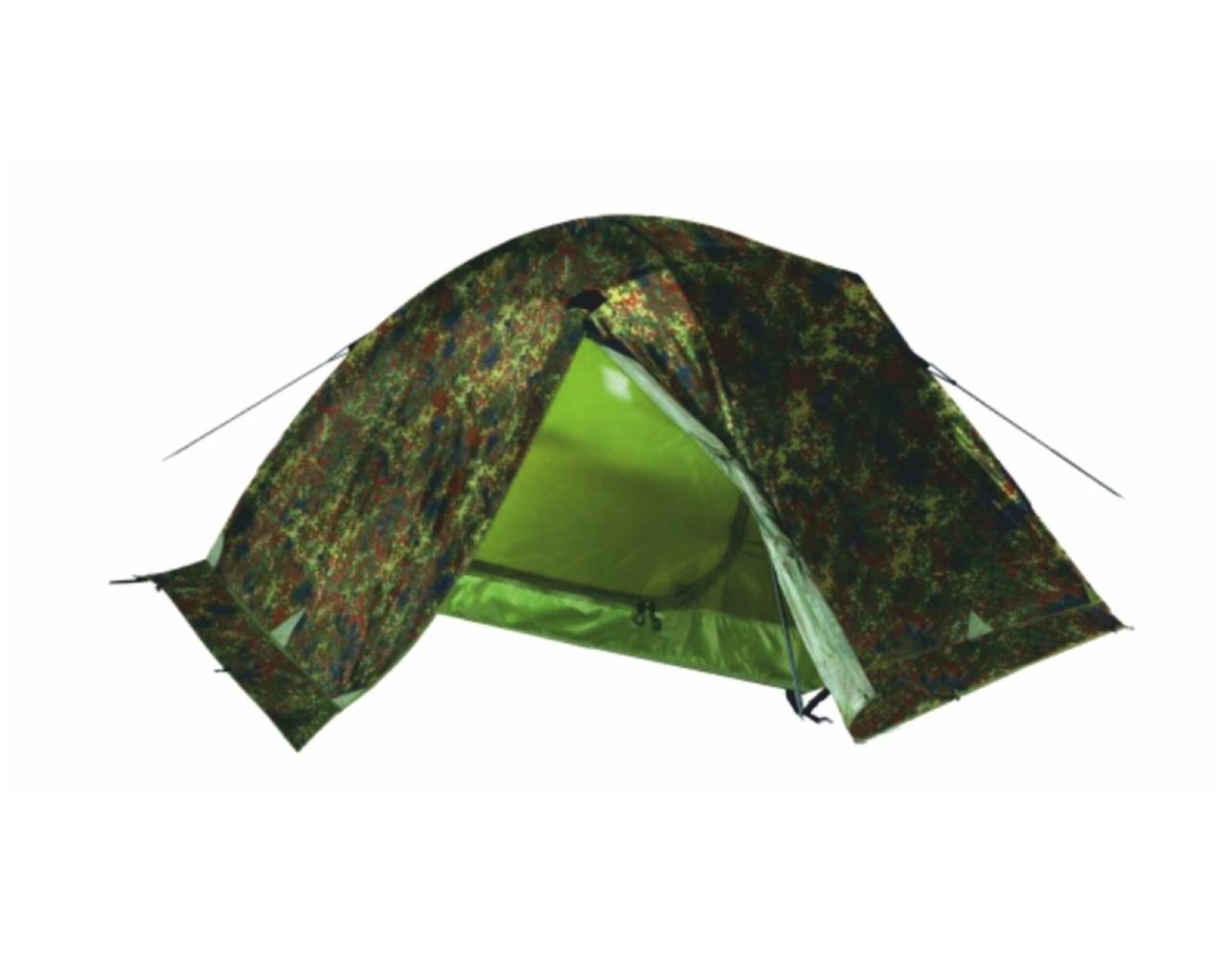 Палатка Talberg Forest Pro 2Двухслойная палатка камуфляжного цвета с алюминиевыми дугами. Тент: Polyester RipStop 190T/80D 5000  мм. Дно: Polyester 195T/80D  7000 мм. Внутренняя палатка: дышащий Polyester. Юбка: Polyester. Дуги: Alu7001 8,5 мм.  Количество входов: 2. Количество мест: 2. Вес: 3,0 кг. Размеры внутренней палатки: 120 x 210 x 95 см. Размеры габаритные: 240 x 215 x 110 см. Сезонность: весна-лето-осень-зима<br><br>Вес кг: 3.00000000