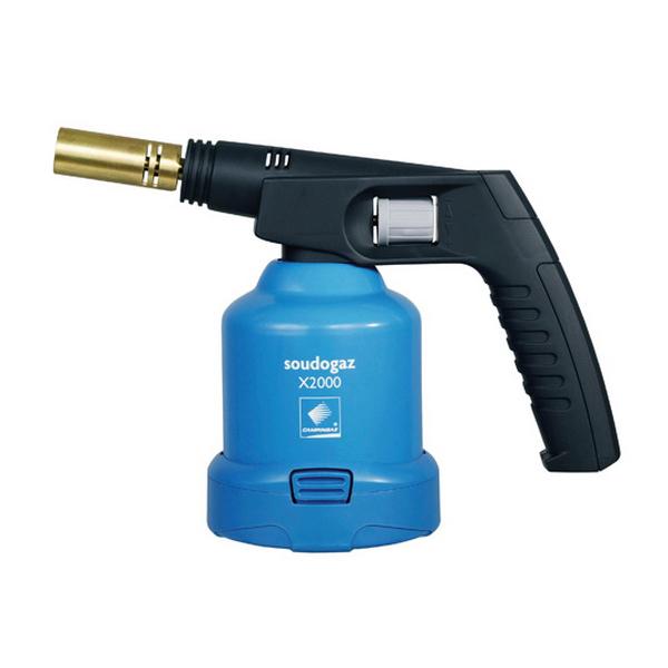 Лампа паяльная газовая Campingaz Soudo X2000 blowlamp C.&amp;SeemeaГазовая паяльная лампа. Технические характеристики: мощность - 1910 Вт; используемое топливо - одноразовые газовые картриджи прокольного типа Campingaz С206; температура пламени 1750 С; размер - 18х25х10см;<br>