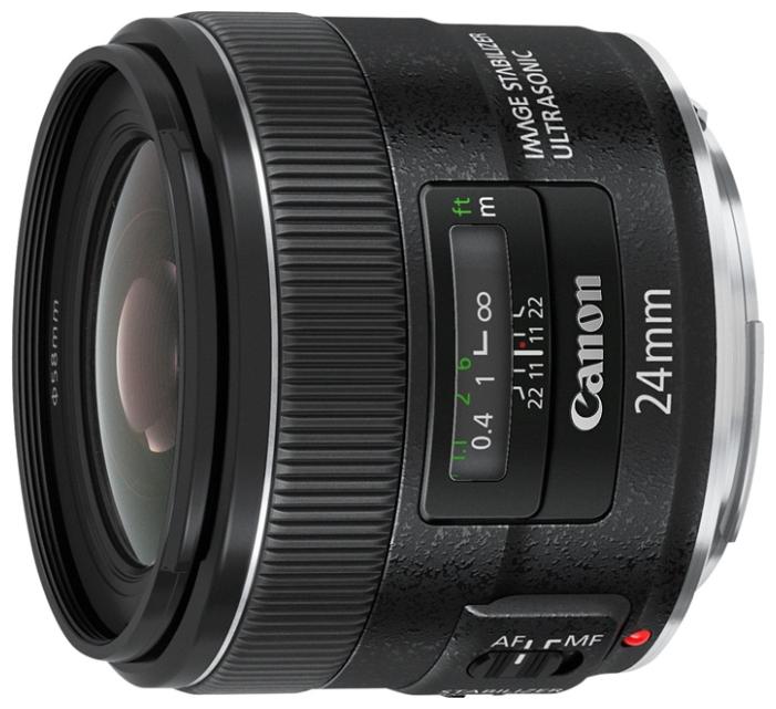 Объектив Canon EF 24mm f/2.8 is usmОбъектив с постоянным фокусным расстоянием 24 мм и светосилой f/2.8 идеален для пейзажной фотографии, путешествий и фотодокументалистики. Стабилизация изображения помогает при низкой освещенности, привод USM позволяет выполнить фокусировку быстро и бесшумно.<br><br>Вес кг: 0.40000000