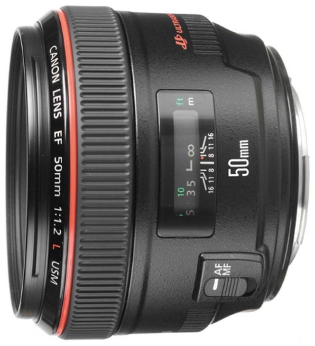 Объектив Canon EF 50mm f/1.2L USMCanon EF 50 f/1.2L USM стандартный объектив с постоянным ФР, крепление Canon EF и EF-S, автоматическая фокусировка, минимальное расстояние фокусировки 0.45 м, размеры (DхL): 85.4x65.5 мм, вес: 545 г<br><br>Вес кг: 0.60000000
