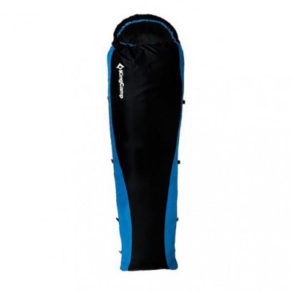 Спальный мешок KingCamp Trail 800Серия Outdoor, наполнитель: синтетика (Microfibre, 70 г/м2); комфорт: от 15 С до 25С; размеры (ДхШхШ): 205x75x50см; ткань внешнего покрытия: полиэстер (210Т Ripstop), внутренняя ткань: полиэстер + хлопок; в упакованном виде: 22x44см; цвет: синий<br><br>Вес кг: 0.90000000