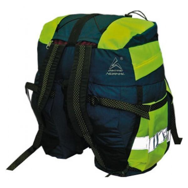 Рюкзак велосипедный Акме 45Рюкзак велосипедный Акме 45 Назначение: Классические велоштаны объемом 45 литров для непродолжительных велопутешествий. Особенности: Световозвращающие полосы расположены как сзади, так и с боков рюкзака. Держит заданную форму за счет жесткого «каркаса» из пеноэтилена в дне и боках рюкзака, прилегающих к колесу. Плотно крепится на багажник велосипеда двумя стропами с помощью специальных пряжек-фастексов: передняя часть стропы крепится за переднюю часть багажника, задняя - за заднюю, соединяются мощным фастексом. Рюкзак надежно закрепляется на багажнике велосипеда всего за 5 секунд!<br>