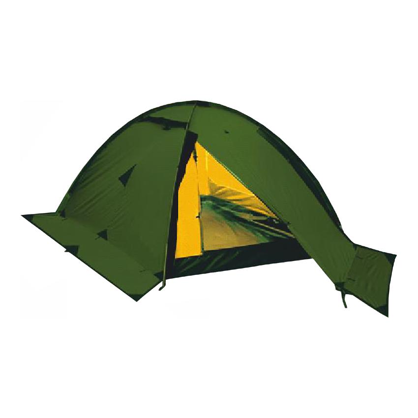 Палатка Talberg Vega 2Легкая двухслойная двухместная палатка на внешнем каркасе для быстрой и легкой установки. Туристическая линия Talberg. Палатки Talberg Туристической линии были специально разработаны для походов в весеннее, летнее и осеннее время. В палатках этой серии используются материалы и конструкции, которые позволяют комфортно провести теплую летнюю ночь или переждать серьезную непогоду с сильным ветром и осадками.<br><br>Оптимальная комбинация материалов по соотношению вес-прочность-надежность.<br>Использование полиэстера позволяет сделать тент палатки прочным, легким, непроницаемым для ветра и не впитывающим влагу.<br>Высококачественные дуги из фибергласа не имеют остаточных деформаций и в состоянии выдержать сильные ветры и непогоду.<br>Палатка оборудована высококачественной противомоскитной сеткой, способной защитить даже от самой мелкой мошки.<br>Палатка снабжена ветрозащитной (снегозащитной) юбкой.<br>Все швы палатки проклеены специальной термоусадочной лентой, которая надежно защищает палатку от протеканий.<br>Внутри палатки предусмотрены карманы для мелочей и полка под потолком для фонарика или каких-либо вещей.<br>Ремнабор в комплекте.<br><br>Вес кг: 3.10000000