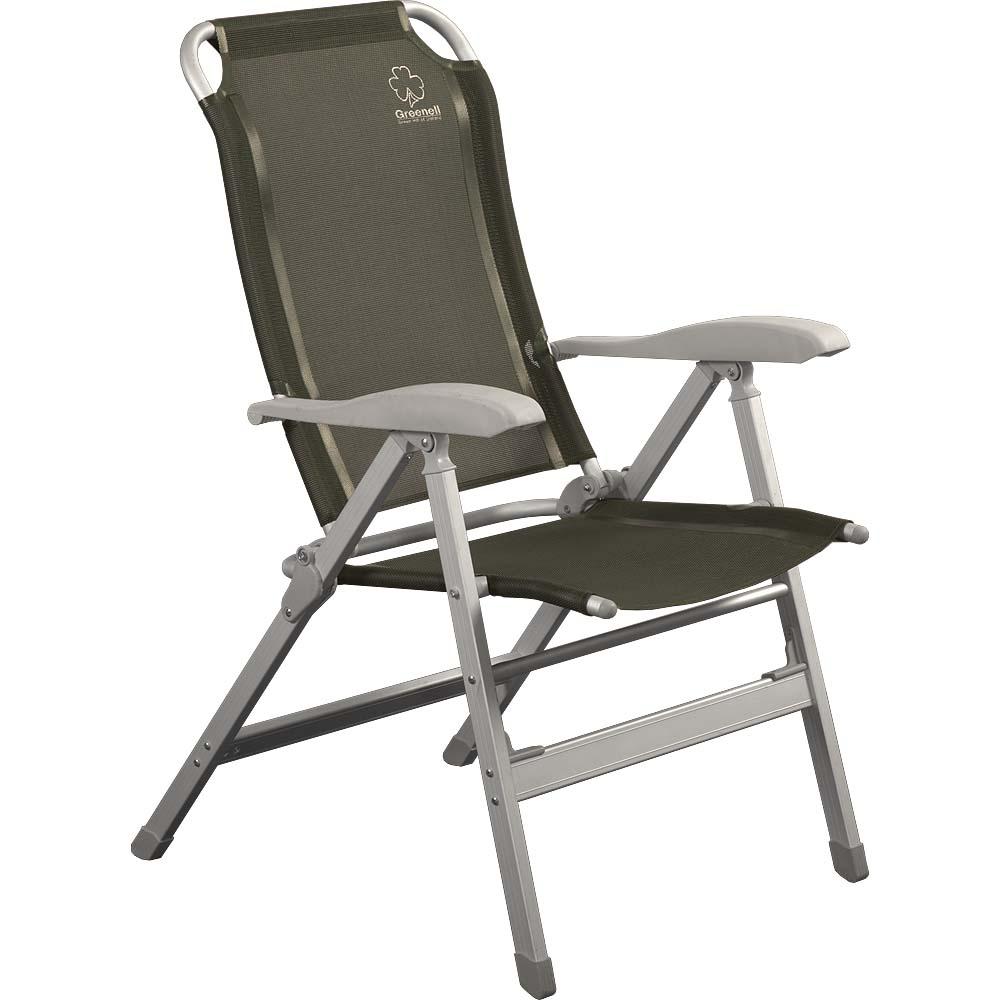 Кресло Greenell FC-10Кемпинговое кресло с регулировкой наклона спинки. 8 положений фиксируются подлокотниками. Ткань: сетчатый полиэстер - легко моется и устойчив к ультрафиолету.<br><br>Вес кг: 5.70000000